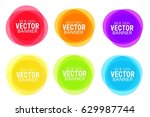 multicolored vector creative... | Shutterstock .eps vector #629987744