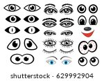 eyes set vector | Shutterstock .eps vector #629992904