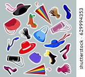 women's fashion accessories... | Shutterstock . vector #629994353