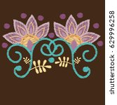 embroidery. embroidered design...   Shutterstock .eps vector #629996258