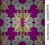 wallpaper baroque  damask....   Shutterstock .eps vector #630000974