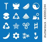 set of 16 natural filled icons... | Shutterstock .eps vector #630001244