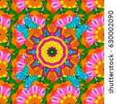 invitation with colored mandala....   Shutterstock .eps vector #630002090