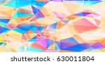 colorful triangles  geometric...   Shutterstock .eps vector #630011804