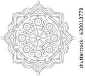 mandala vector illustration....   Shutterstock .eps vector #630013778