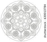 mandala vector illustration....   Shutterstock .eps vector #630013784
