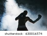afro american male boxer. | Shutterstock . vector #630016574
