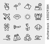 nature icon. set of 16 nature... | Shutterstock .eps vector #630029384