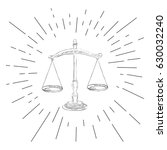 symbol of justice   icon of law ... | Shutterstock .eps vector #630032240