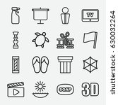 graphic icon. set of 16 graphic ... | Shutterstock .eps vector #630032264