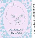 baby shower invitation   baby... | Shutterstock .eps vector #630032294