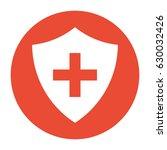 vector immune system  cross in... | Shutterstock .eps vector #630032426