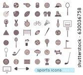 vector icons  sports equipment | Shutterstock .eps vector #630036758