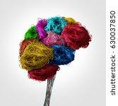 tangled human brain concept as... | Shutterstock . vector #630037850