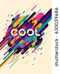 abstract style poster  with... | Shutterstock .eps vector #630039686