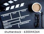 screenwriter desktop with movie ...   Shutterstock . vector #630044264