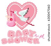 baby shower  card  invitation ... | Shutterstock . vector #630047060