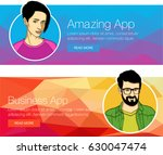 set of banners for header or... | Shutterstock .eps vector #630047474