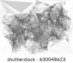 abstract monochrome mosaic... | Shutterstock . vector #630048623