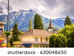 street of interlaken ... | Shutterstock . vector #630048650