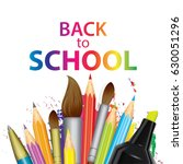a set of multi colored school... | Shutterstock .eps vector #630051296