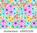 vintage floral background.... | Shutterstock .eps vector #630052100