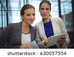 portrait of business executives ... | Shutterstock . vector #630057554