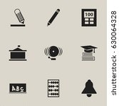 set of 9 editable science icons....