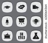 set of 9 editable university...