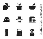 set of 9 editable cooking icons.... | Shutterstock .eps vector #630064673