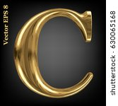vector letter c from gold solid ... | Shutterstock .eps vector #630065168