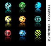 sphere 3d objects with texture... | Shutterstock .eps vector #630065588