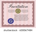 red vintage invitation template.... | Shutterstock .eps vector #630067484