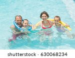 portrait of happy parents and... | Shutterstock . vector #630068234
