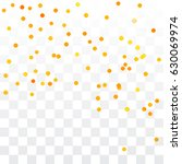 orange circle confetti falling... | Shutterstock .eps vector #630069974