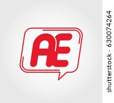 initial letter ae logo concept