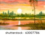 Watercolor Landscape. Above The ...