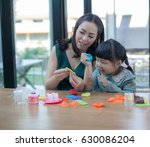 child girl and woman asian girl ... | Shutterstock . vector #630086204