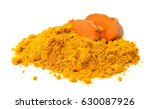 turmeric root and powder on... | Shutterstock . vector #630087926