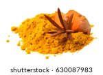 turmeric root and powder... | Shutterstock . vector #630087983