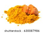 turmeric barks and powder... | Shutterstock . vector #630087986