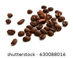 brown coffee beans in front of... | Shutterstock . vector #630088016