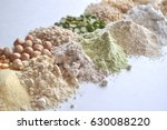 alternative gluten free flour ... | Shutterstock . vector #630088220