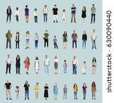 diversity people set gesture... | Shutterstock . vector #630090440