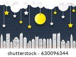 green eco paper art design... | Shutterstock .eps vector #630096344