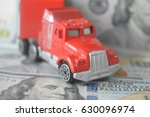 toy car on money background ... | Shutterstock . vector #630096974