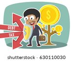 african businessman protecting... | Shutterstock . vector #630110030