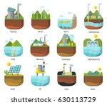 generation energy types power...   Shutterstock .eps vector #630113729