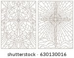 set contour illustrations of... | Shutterstock .eps vector #630130016