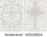 set contour illustrations of... | Shutterstock .eps vector #630130016